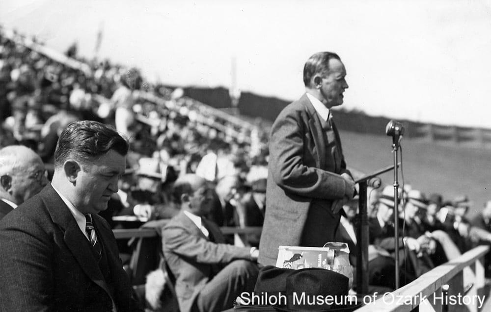 Dedication of Bailey Stadium, University of Arkansas, Fayetteville, October 9, 1938.