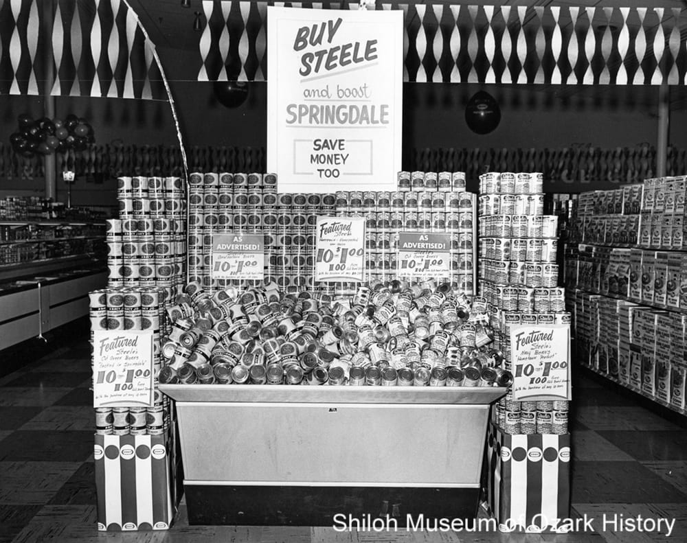 Steele Canning Company products, Springdale, Arkansas, 1961