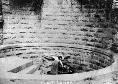 Sweet Spring (formerly Spout Spring), Eureka Springs, Arkansas, 1895.