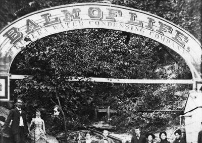Sign for Eureka Springs Water Condensing Company, Basin Spring, Eureka Springs, Arkansas, early 1880s.
