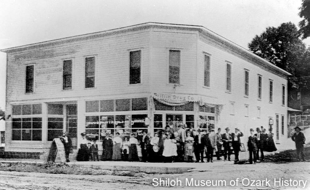 Griffin Drug Store and sanitarium, Sulphur Springs, Arkansas, circa 1910.