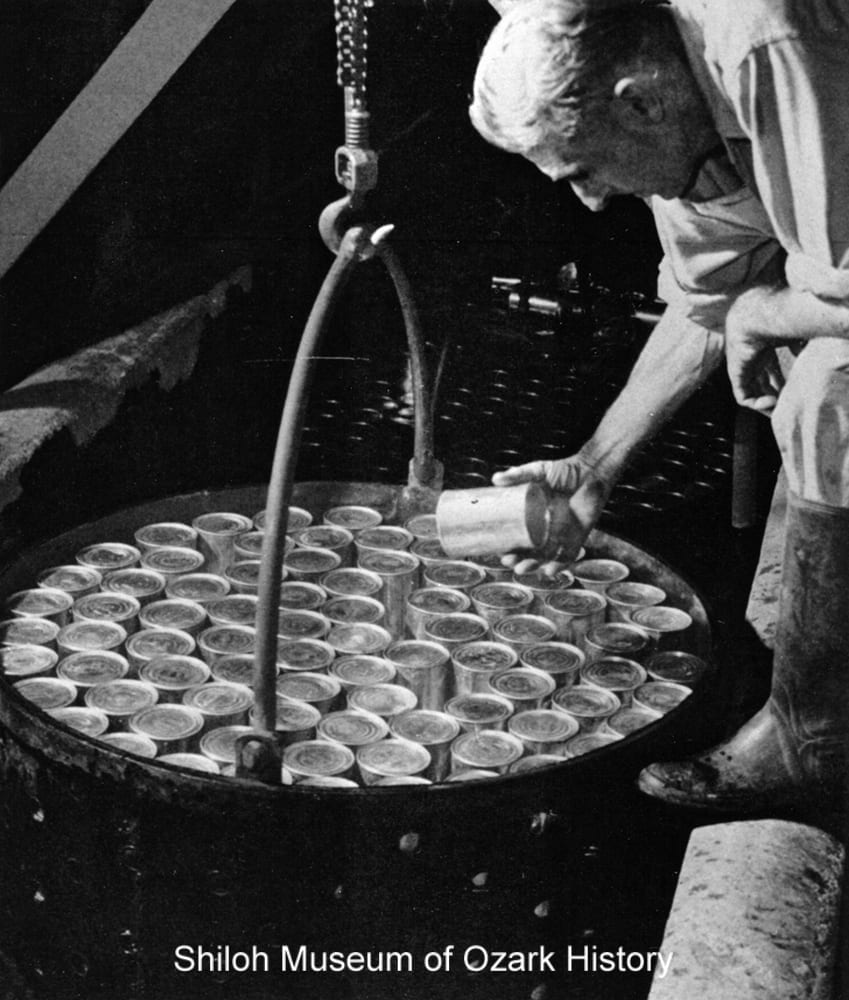 Cooling vat, Steele Canning Company, Springdale, Arkansas, circa 1948.