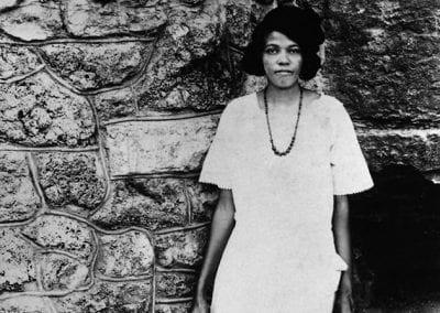 Mrs. O. W. Coleman at Harding Spring, Eureka Springs, Arkansas, 1920s.