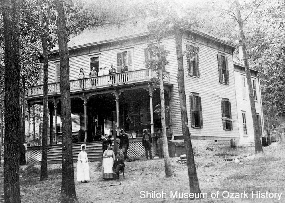 Electric Springs Hotel, Rogers, Arkansas, circa 1890.