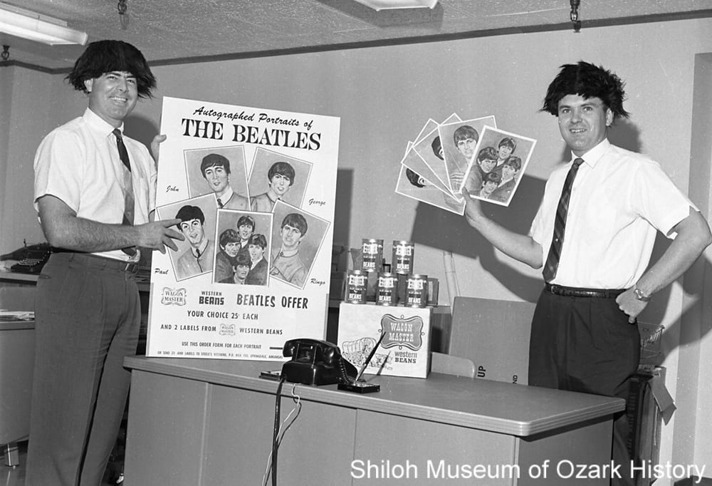 Beatles promotion for Wagon Master beans, Steele Canning Company, Springdale, Arkansas, August 1964.
