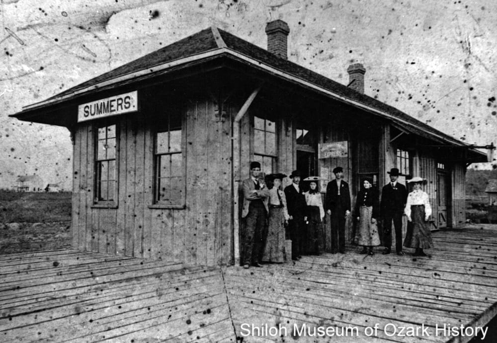 Frisco depot, Summers, Arkansas, early 1900s