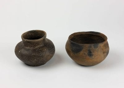 Prehistoric pottery jar and bowl, Arkansas