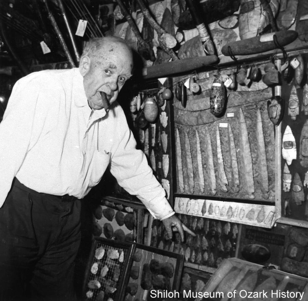 Guy Howard with part of his collection, circa 1958