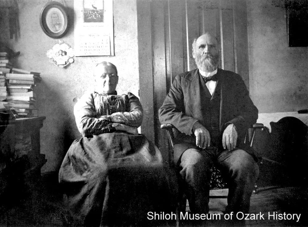Rev. Peter and Martha Carnahan, Bentonville, Arkansas, 1890