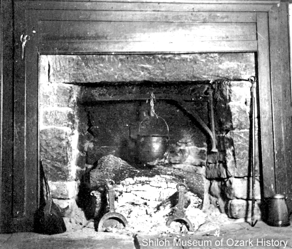 Fireplace, probably Washington County, early 1900s.