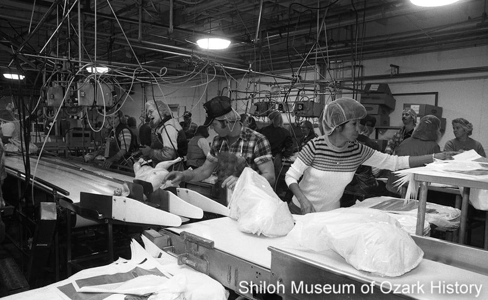 Packaging turkeys at Cargill, Springdale, Arkansas, October 9, 1987.