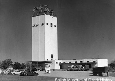 George's Inc. feed mill, Springdale, Arkansas, 1950s.